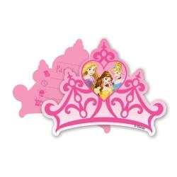Prinsessen uitnodigingen in de vorm van een prachtig kroontje! 7 stuks
