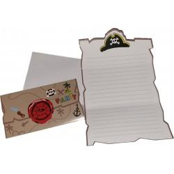 Piraten uitnodigingen 7 stuks