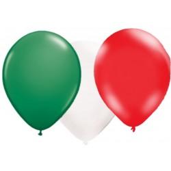 Ballonnen groen-wit-rood 10 stuks