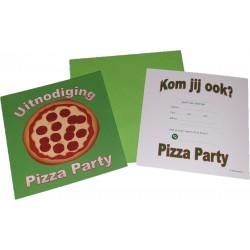 Pizza party uitnodigingen 7 stuks