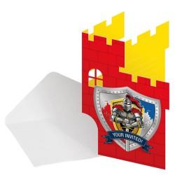 Ridder uitnodigingen met enveloppen