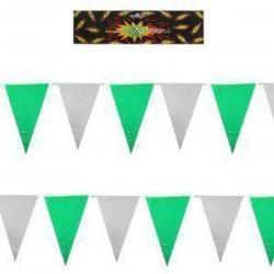 Vlaggenlijn groen / wit -...